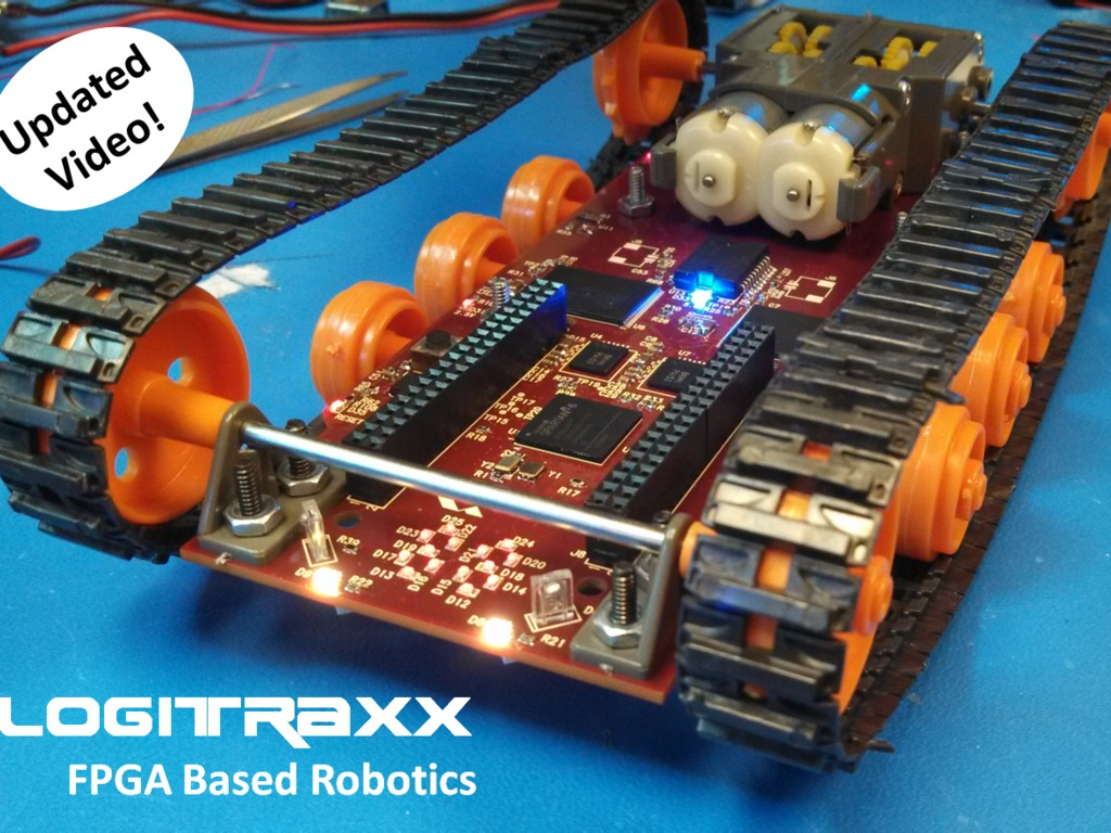 Logitraxx - Xilinx FPGA Powered Tracked Robot's video poster