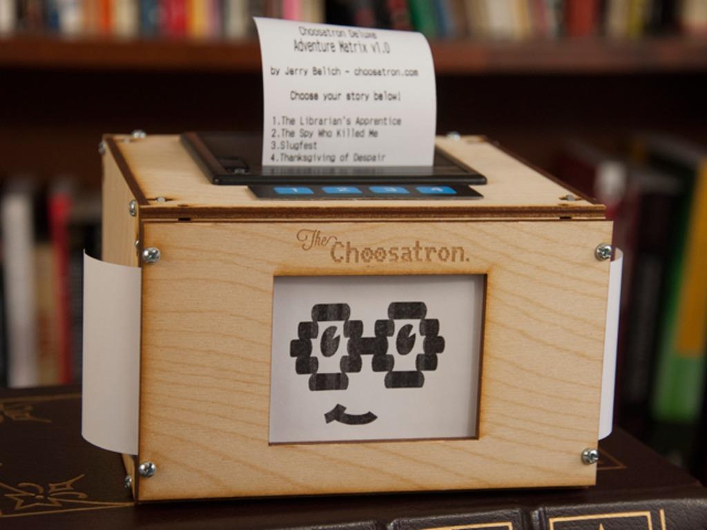 The Choosatron: Interactive Fiction Arcade Machine's video poster