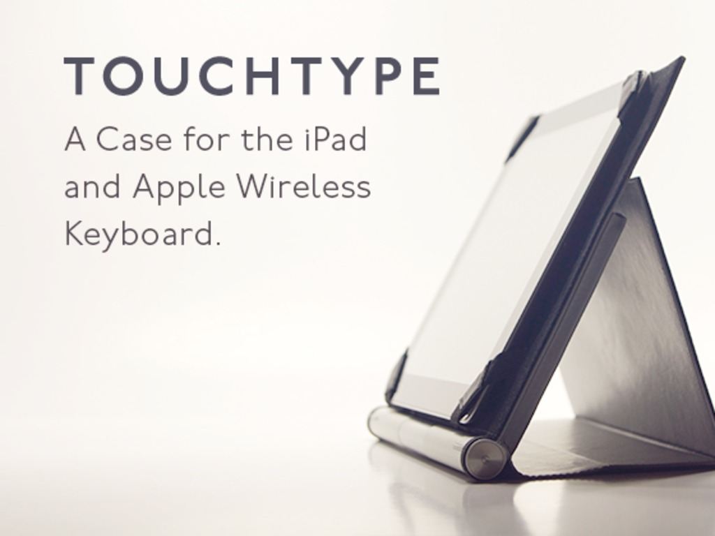 Touchtype: A Case for iPad and Apple Wireless Keyboard's video poster