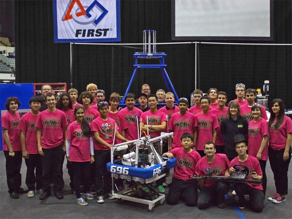 TEAM 696: 2014 FIRST ROBOTICS - Clark Magnet High School's video poster