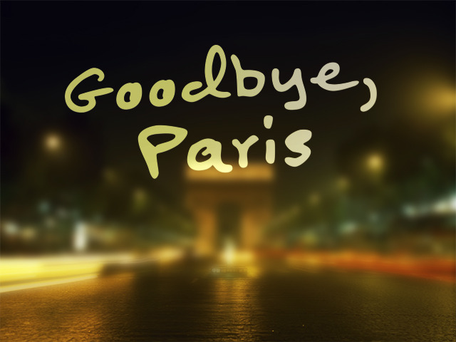 how to say goodbye in paris