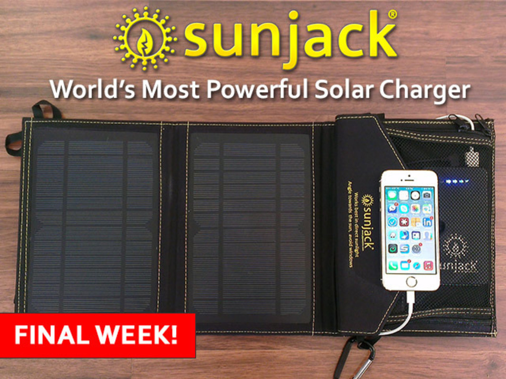 SunJack® Solar Charger - Portable Energy Independence's video poster
