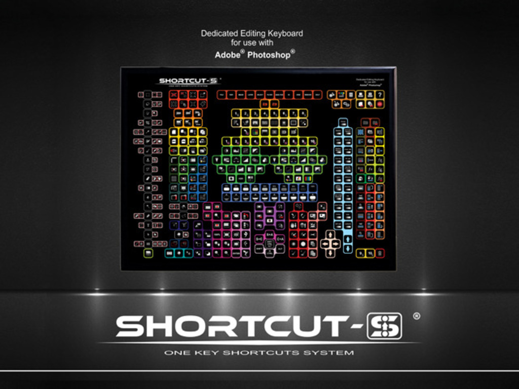Special SHORTCUT-S keyboard for graphics and video softwares's video poster