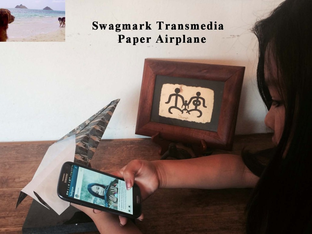 Swagmark, the Transmedia Paper Airplane's video poster