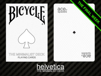 The Minimalist Deck: Helvetica. Modern Bicycle Playing Cards