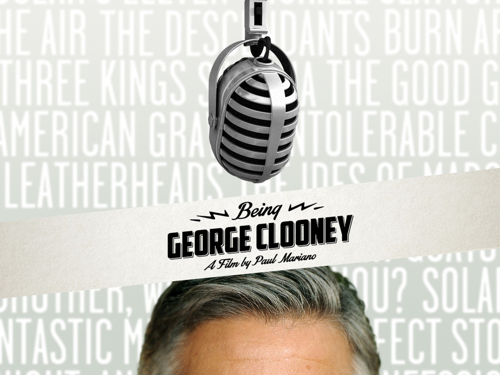 Being George Clooney's video poster