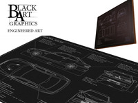 'Engineered Art' Bespoke Laser Etched Blueprint Artwork