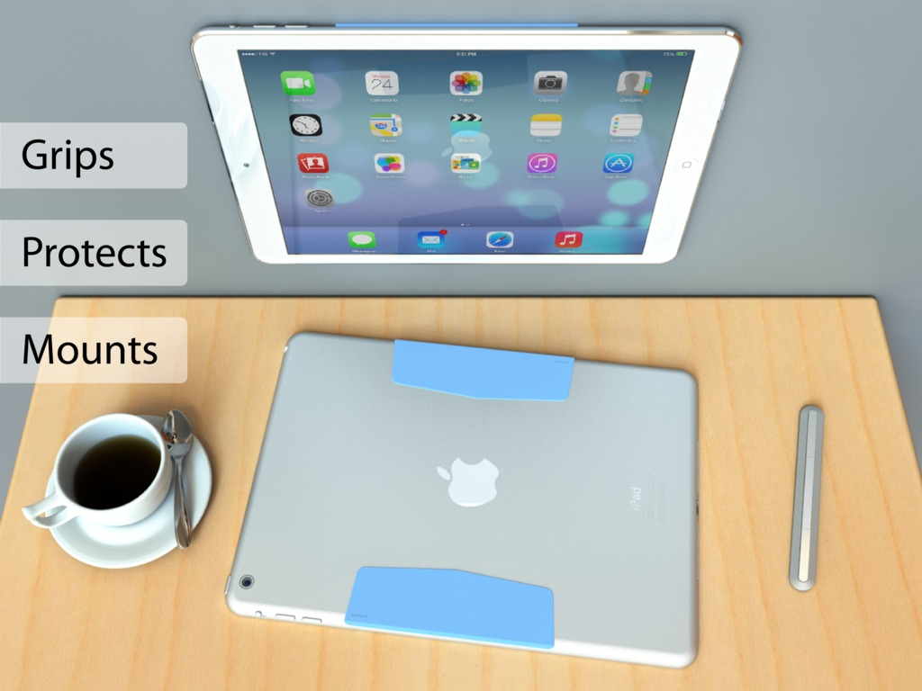 MagBak mounts, grips, protects your iPad. Minimalist design's video poster