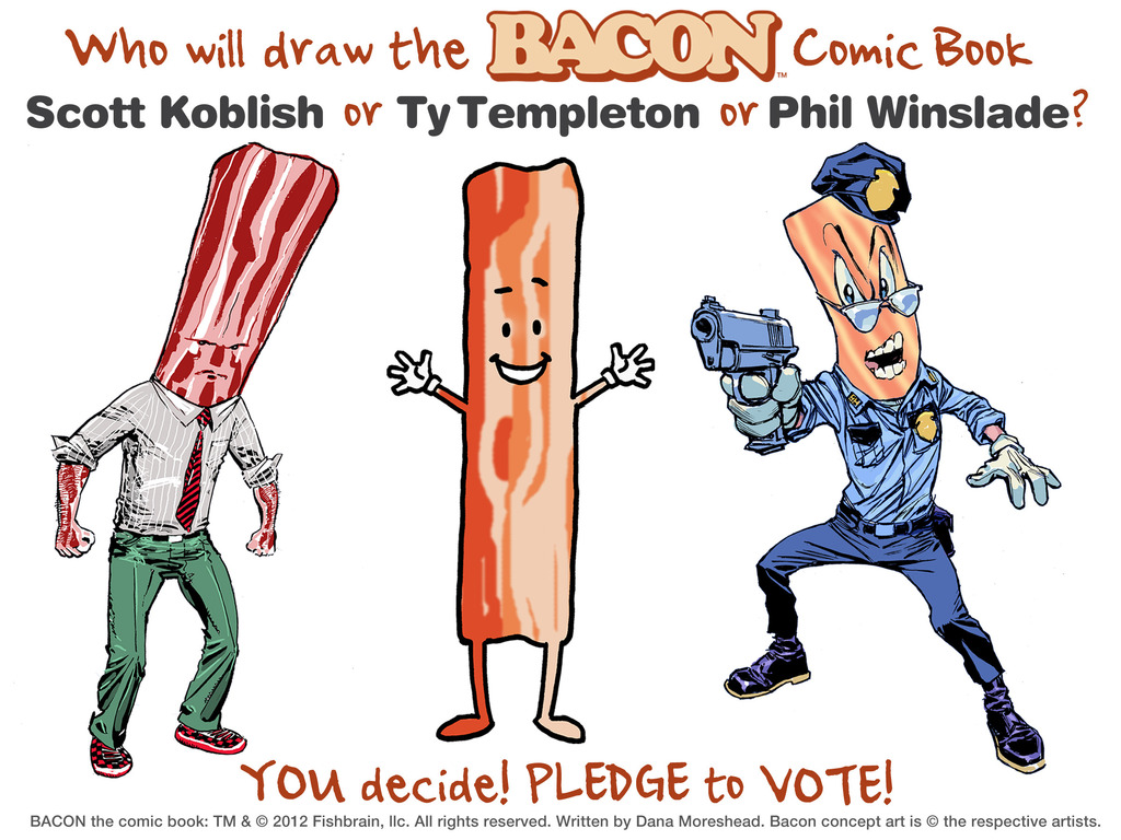 BACON, the comic book.'s video poster