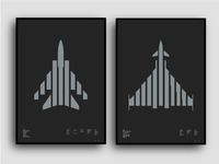 Grafik Aircraft Prints with Morse Code Typography