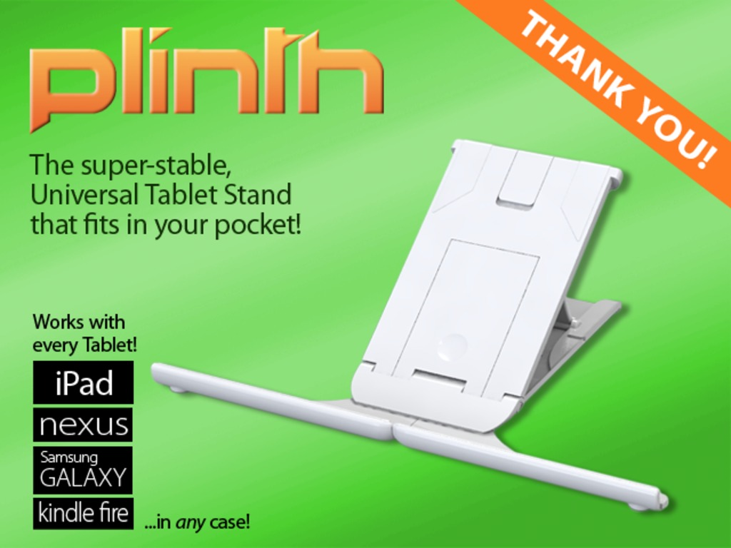 Plinth - the World's best stand for your Tablet / iPad's video poster