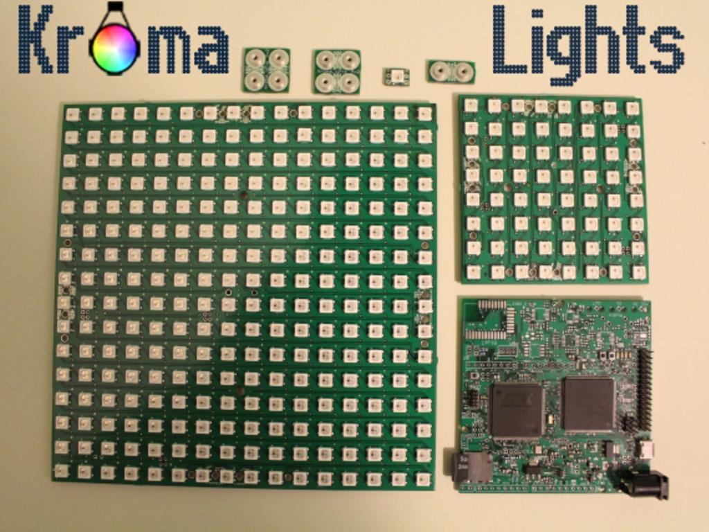 KromaLights: FPGA based LED controller and LED panels's video poster