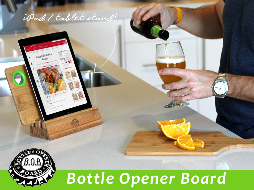 B.O.B (Bottle Opener Board) Cutting Board & Bottle Opener's video poster