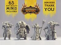 Demigods Rising: Strategy Miniature Game
