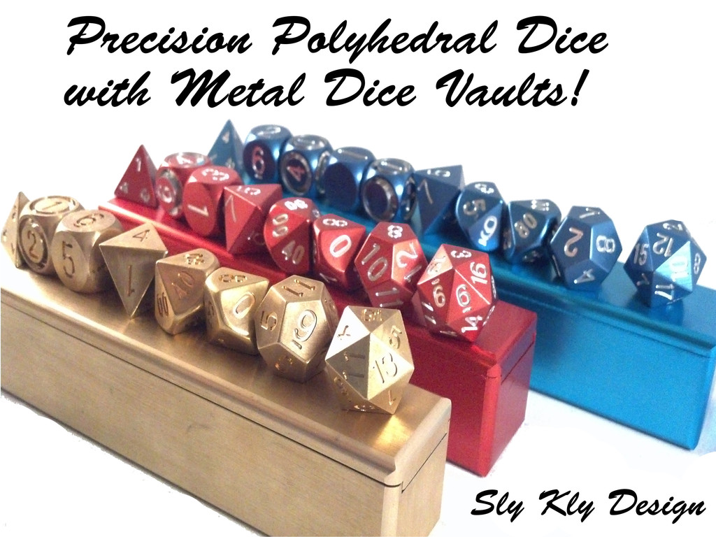 Precision Polyhedral Dice with Metal Dice Vaults!'s video poster
