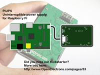 PiUPS - Uninterruptible power supply for Raspberry Pi