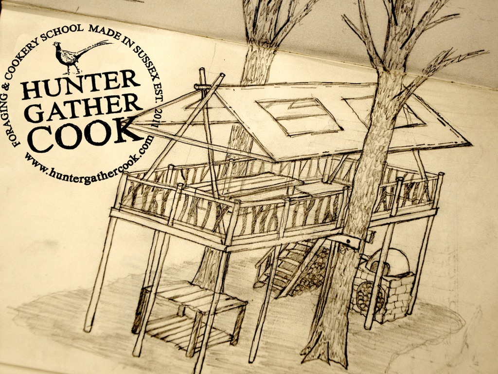 A Tree House HQ for Hunter Gather Cook Foraging School.'s video poster