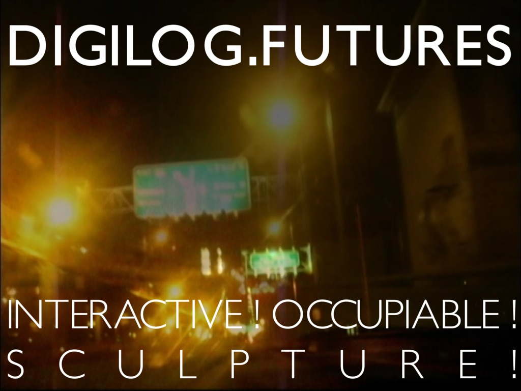 DigiLog Futures: An Interactive Occupiable Sculpture!'s video poster