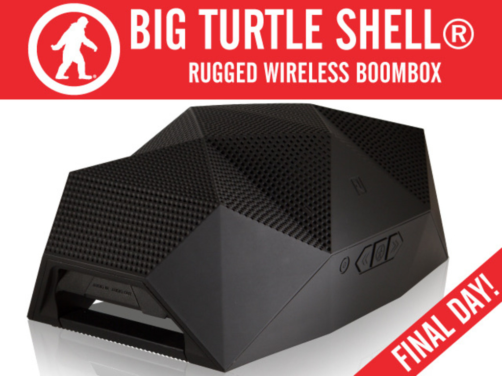 The BIG Turtle Shell®: Rugged, Wireless BoomBox & Power Bank's video poster
