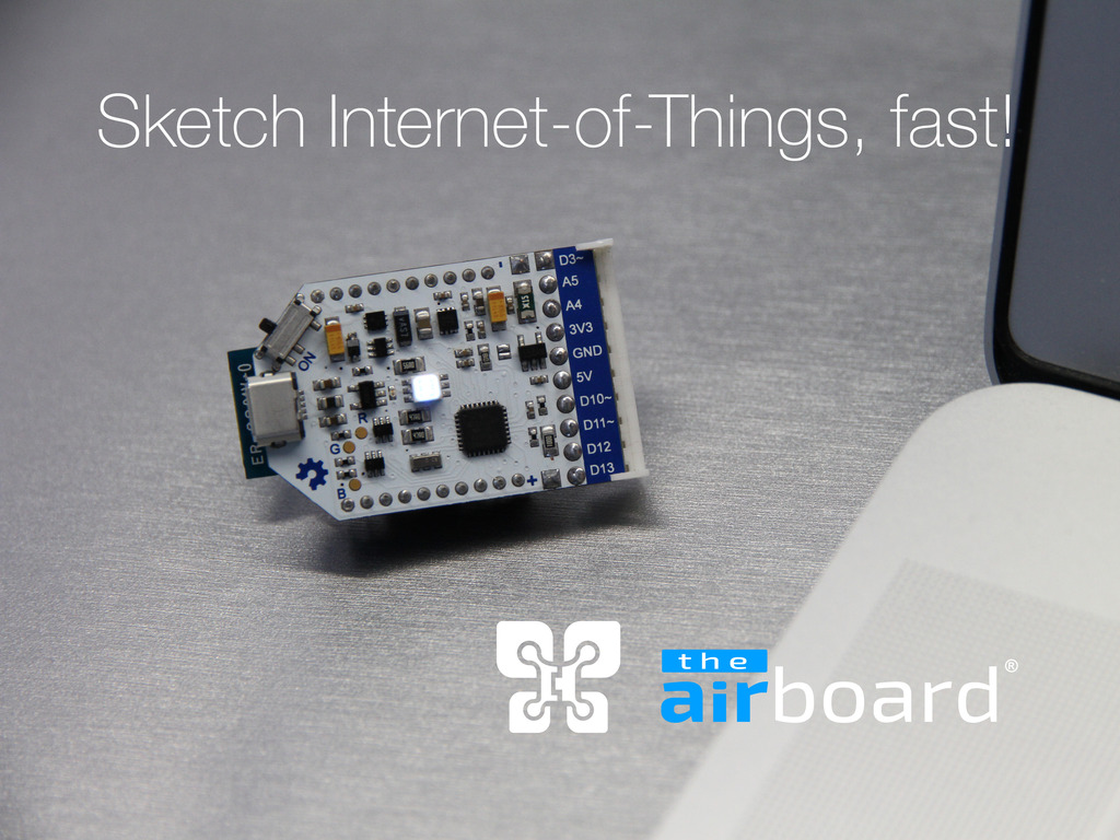 The airboard sketch internet of things fast by