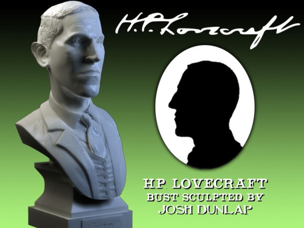 H.P. Lovecraft Miniature Marble Bust Sculpture's video poster