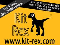 KitRex: the 3D paper velociraptor that you build yourself!