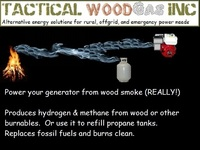 Power your engine from wood smoke!