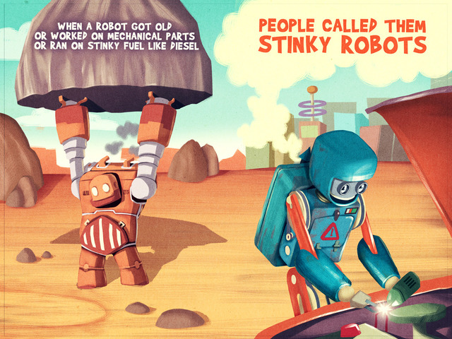 Stinky Robots will save the world! Amazing Children's Book.