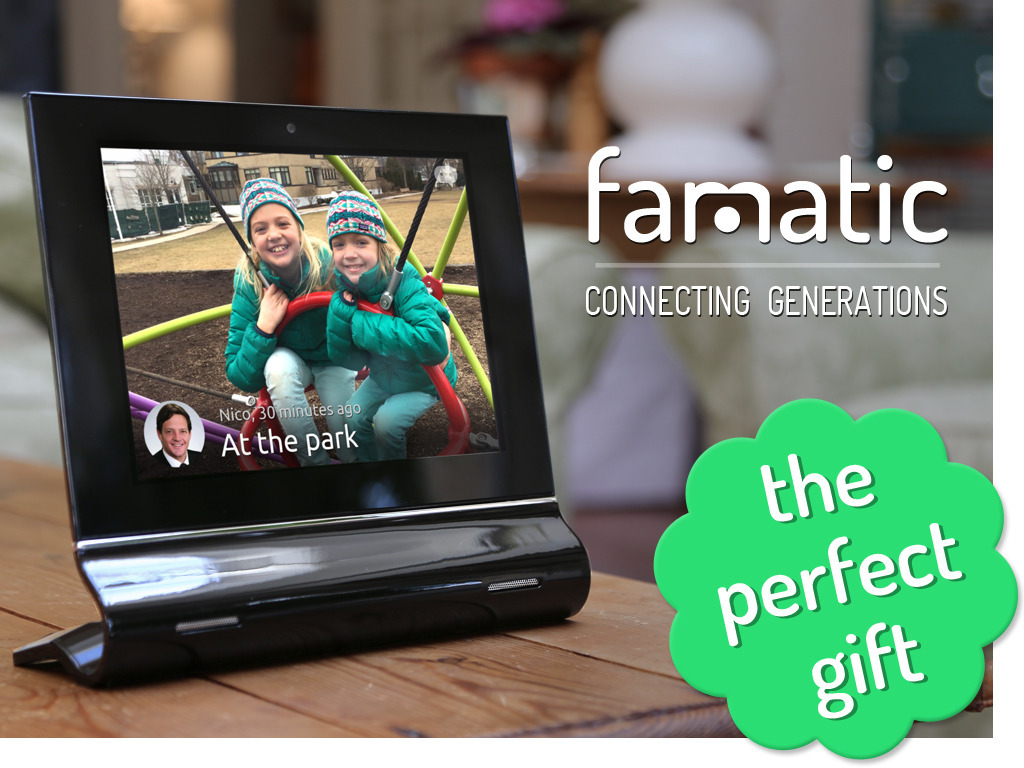 Famatic: The Social Photo Frame Connecting Generations's video poster