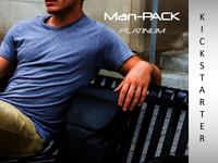 """Man-PACK """"Platinum"""" Leather Collection (EDC bags for work)"""