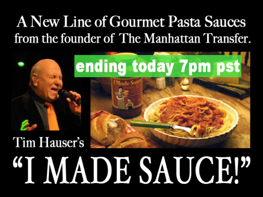 "Tim Hauser's ""I MADE SAUCE!"" Pasta Sauces's video poster"