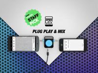 Openmix, the world's smallest audio mixer.