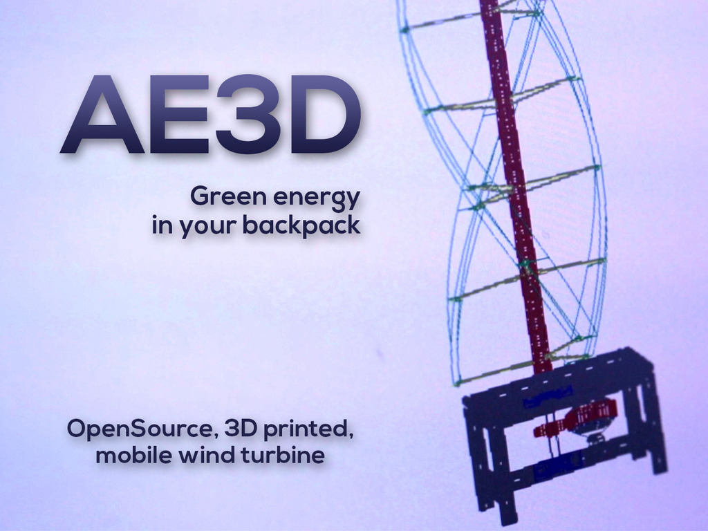 AirEnergy 3D - A 3D printed, opensource, mobile wind turbine's video poster