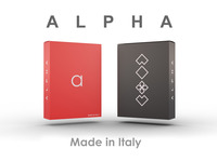 ALPHA: The First Minimal Playing Card Deck Made In Italy