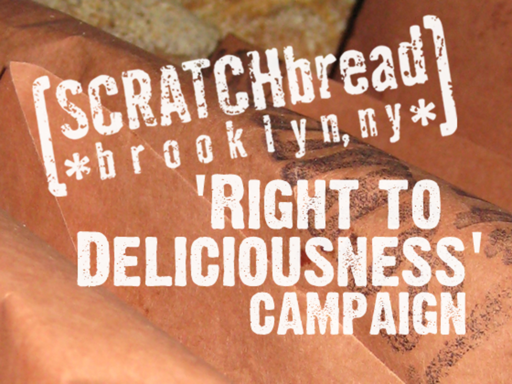 SCRATCHbread's 'right to deliciousness' campaign's video poster