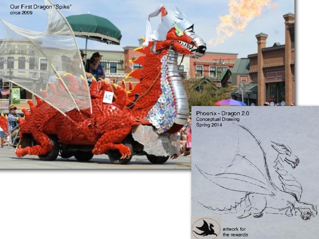 """Phoenix"" - Dragon 2.0 Burning Man Mutant Vehicle Project's video poster"