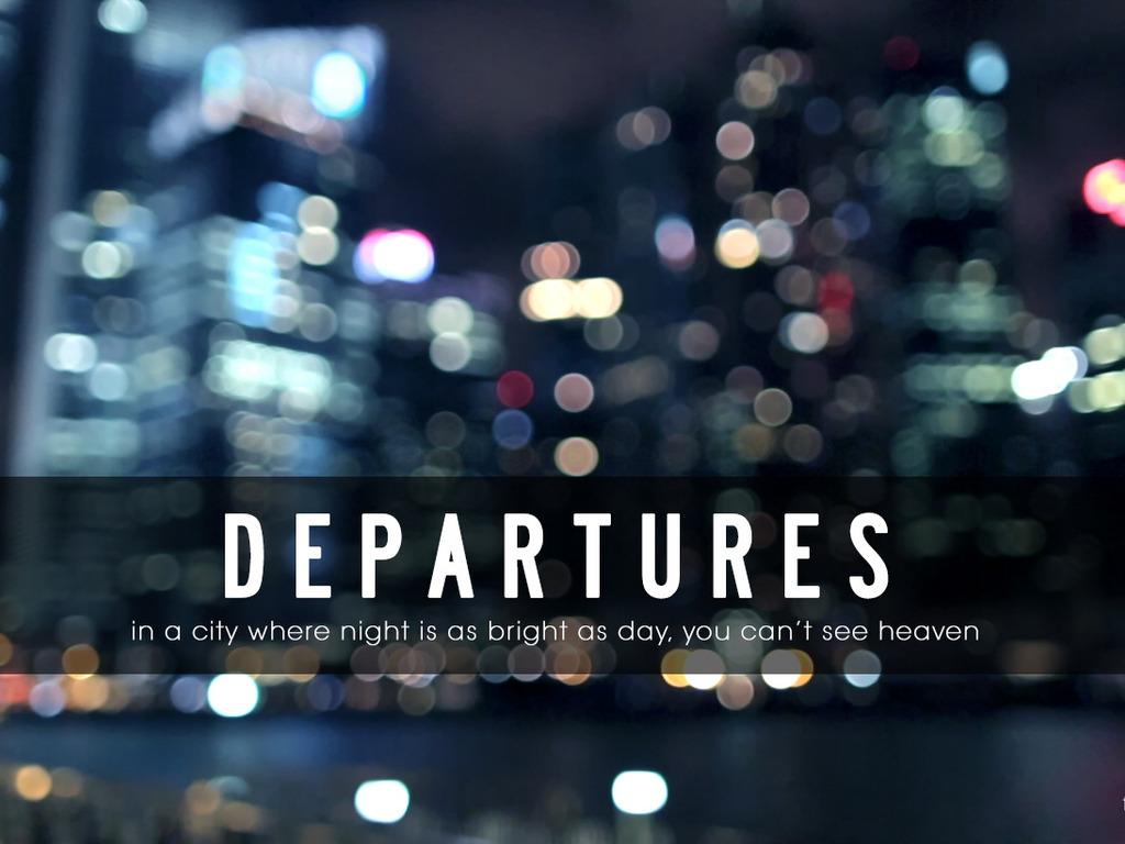 Departures, A Short Film's video poster