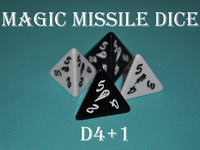 DICE!! Magic Missile Dice!! d4+1
