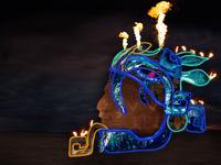 Axayacoatl - Interactive sculpture for Burning Man