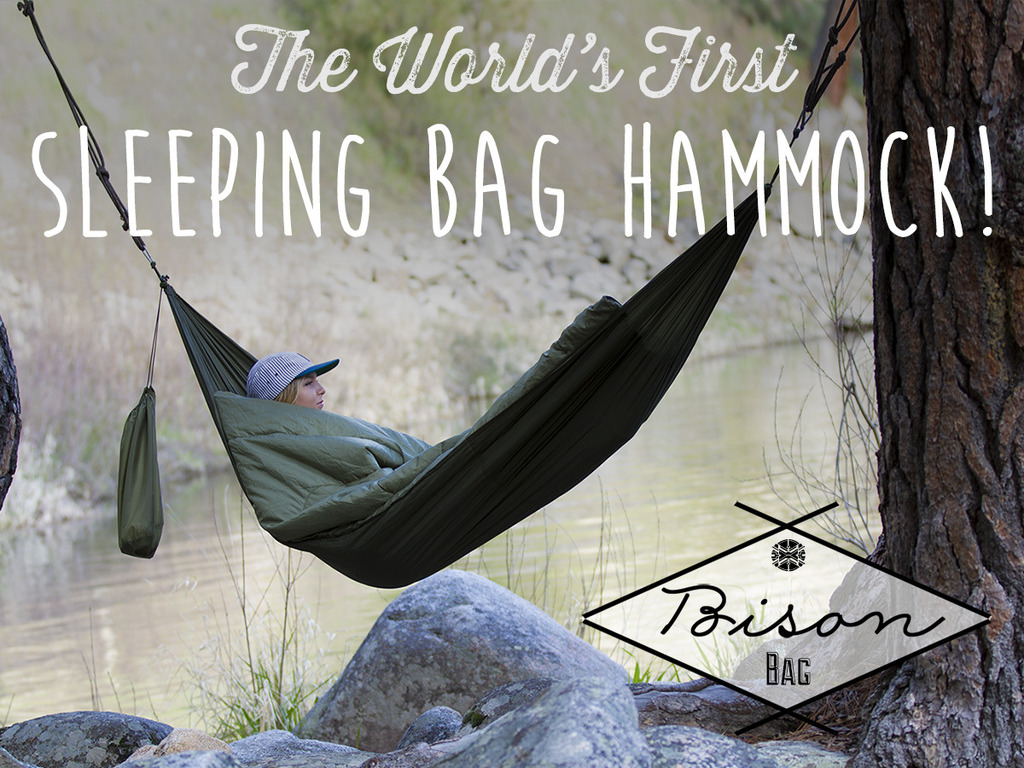 The World's First Sleeping Bag Hammock    Bison Bag's video poster