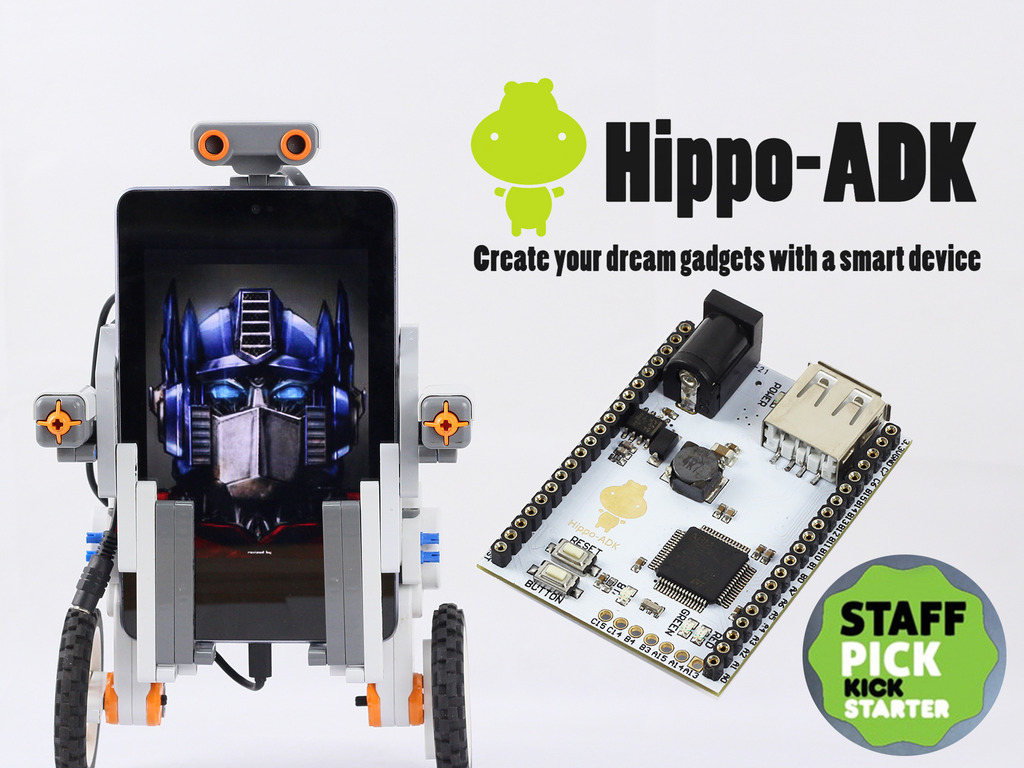 Hippo-ADK: Create your dream gadget with a smart device's video poster