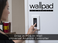 HIO Wallpad Drop-in PoE In-wall Universal Android Controller