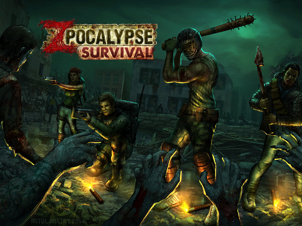 Zpocalypse: Survival - Post nuclear zombie apocalypse.'s video poster