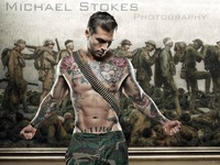 Publish Michael Stokes' large scale art book, Bare Strength
