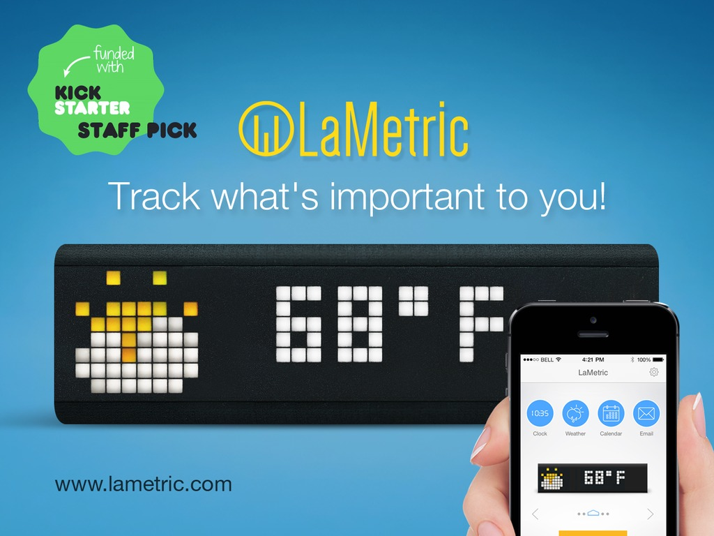 LaMetric - Customizable Smart Ticker for Life and Business's video poster