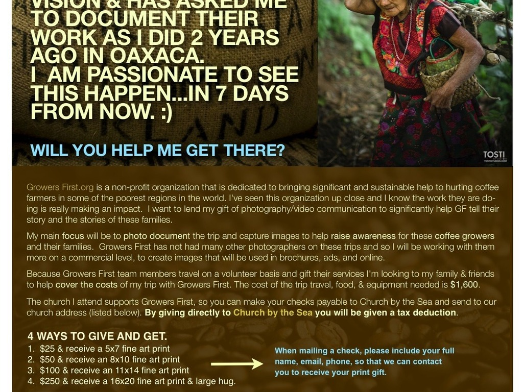 Honduras. Photograph Coffee Farmers. Tell their story. Leave Friday. Growersfirst.org's video poster