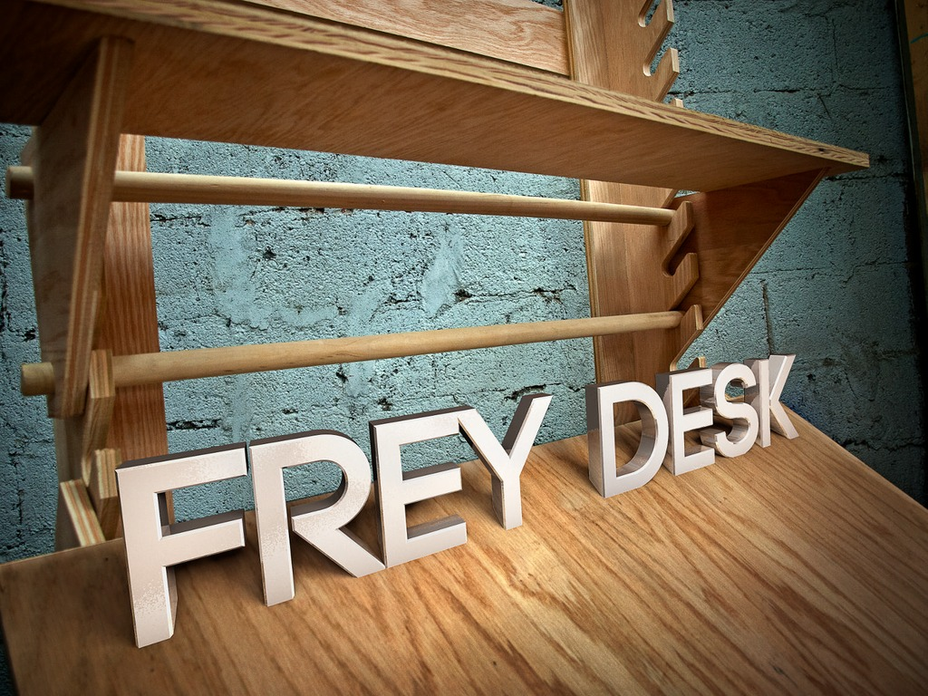 Frey Desk- flexible workspace for creative people's video poster