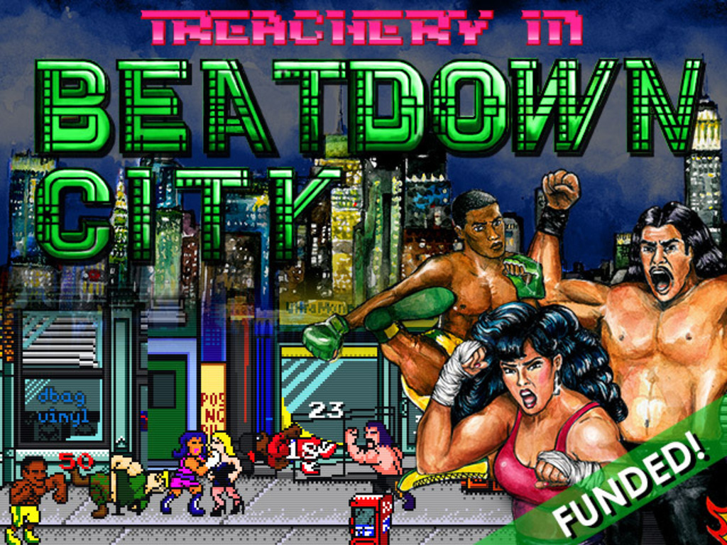 Treachery In Beatdown City: A new way to beat-em-up!'s video poster