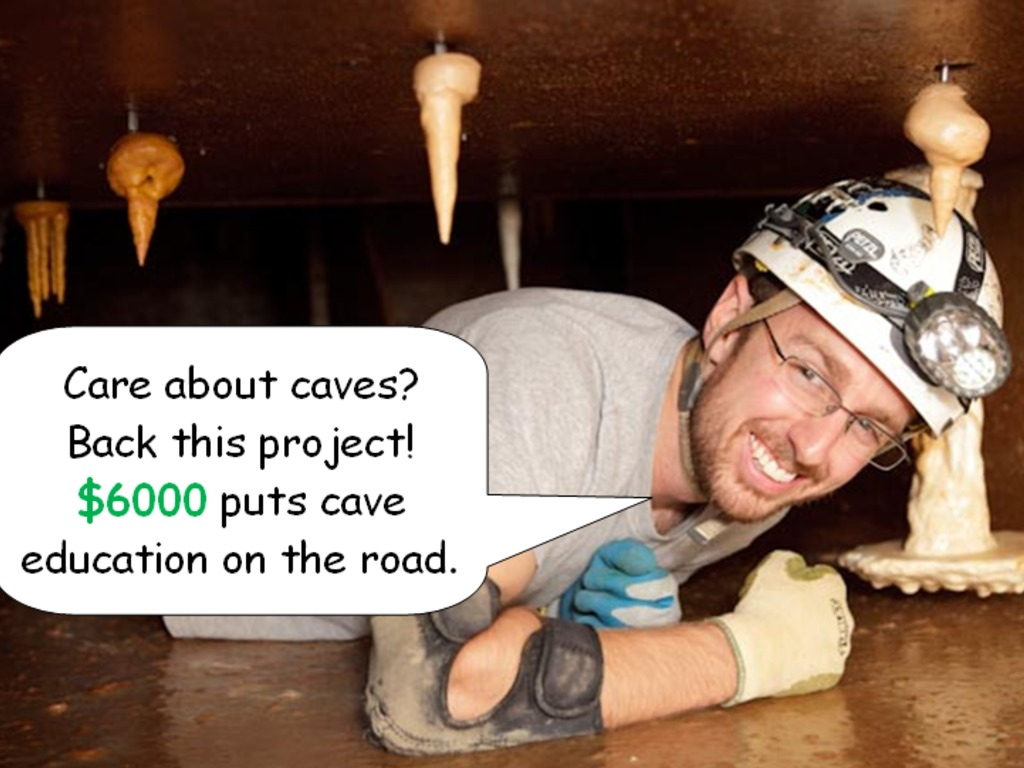 CaveSim at NSS Caving Convention 2012's video poster
