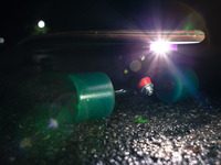 Skate Ray - a rechargeable headlight for your skateboard
